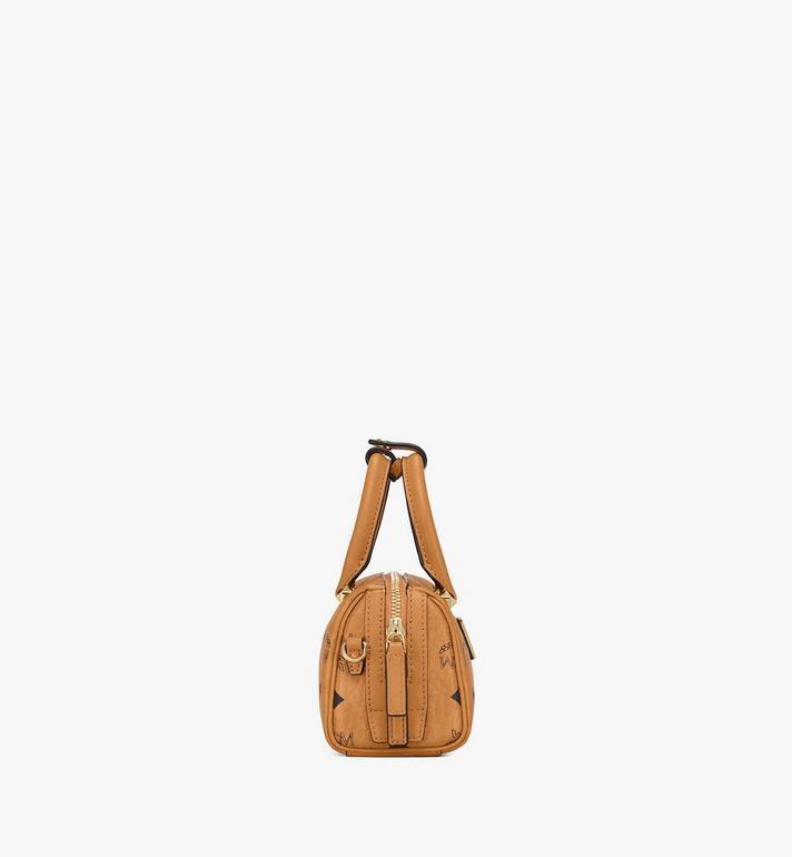MCM Essential Boston Bag in Visetos Cognac MWB9ASE25CO001 Alternate View 2