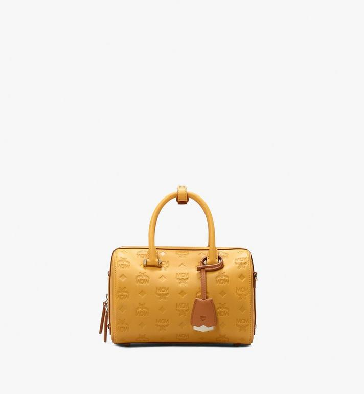 MCM Sac Boston Essential en cuir monogrammé Alternate View