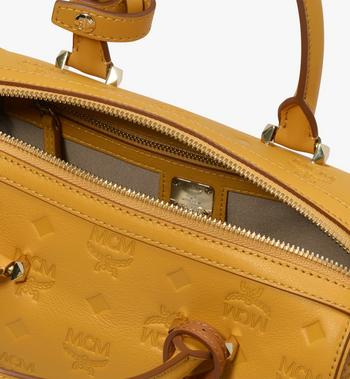 MCM Essential Boston Bag in Monogram Leather Alternate View 4