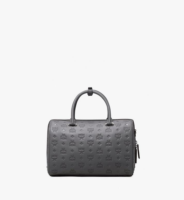 MCM Essential Boston Bag in Monogram Leather Alternate View 3
