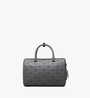 MCM Essential Boston Bag in Monogram Leather Alternate View 3