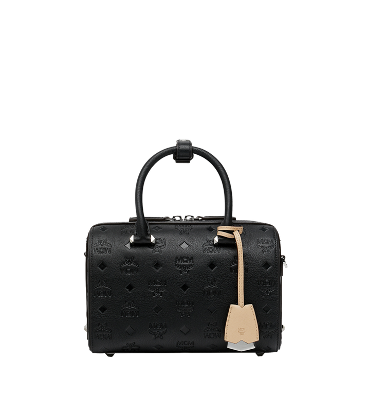 MCM Boston Essential en cuir monogrammé Alternate View 1