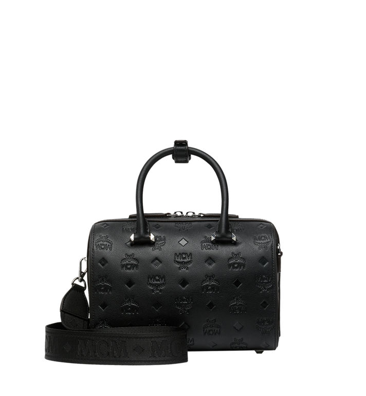 MCM Boston Essential en cuir monogrammé Alternate View 4