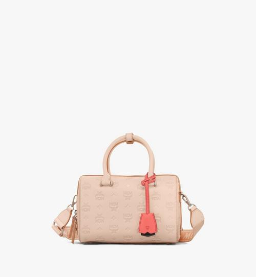 Essential Boston Ledertasche mit Monogramm