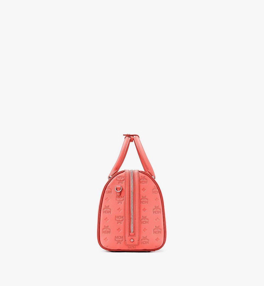 MCM Essential Boston Bag in Monogram Leather Red MWB9SSE53O3001 Alternate View 1