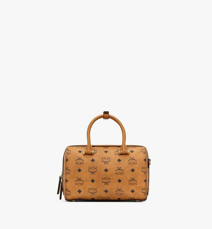 MCM Boston Essential en Visetos Cognac MWB9SSE67CO001 Alternate View 4