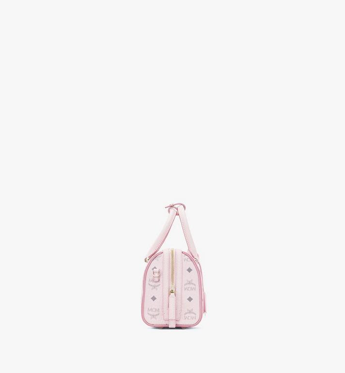 MCM Essential Boston Bag in Visetos Original Pink MWB9SSE67QH001 Alternate View 2