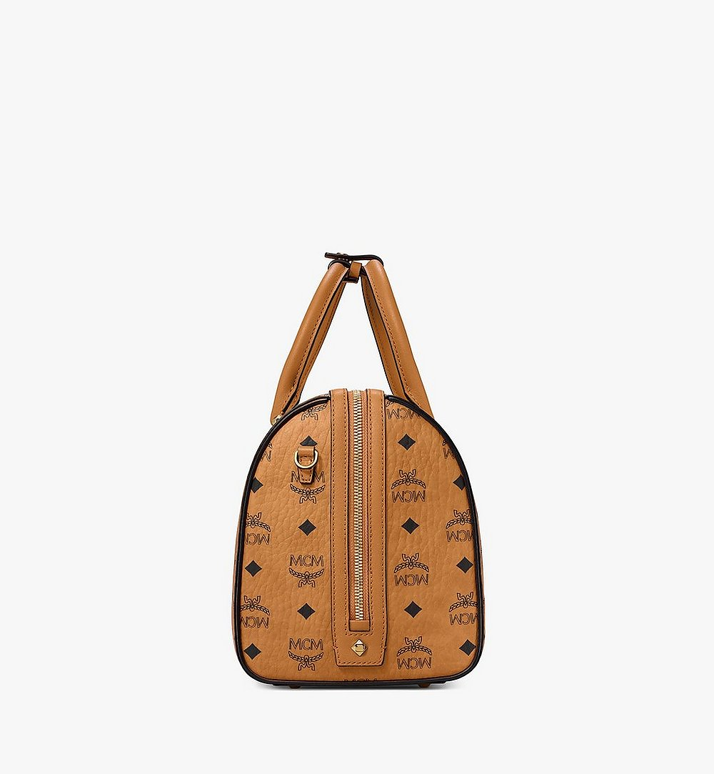 MCM Essential Boston in Visetos Cognac MWB9SSE68CO001 Alternate View 1