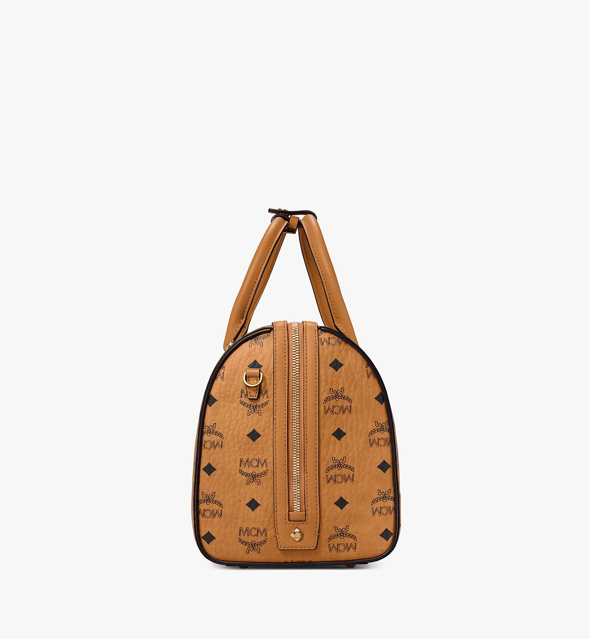 30 cm 12 in Essential Boston in Visetos Cognac | MCM® DE