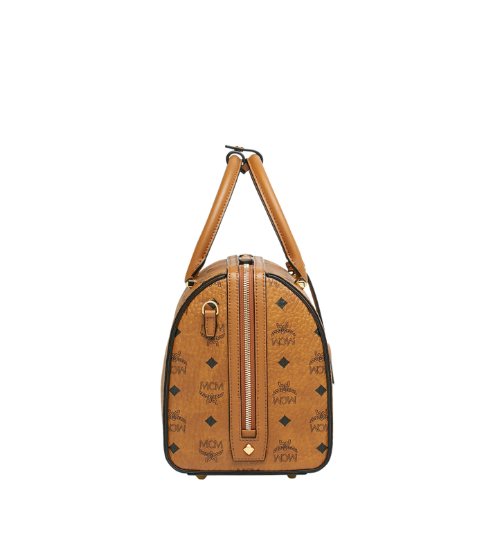 MCM Essential Boston-Tasche  in Visetos Cognac MWB9SSE68CO001 Alternate View 3