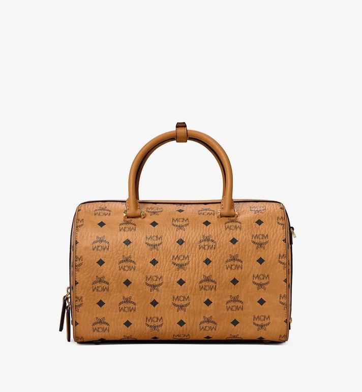 MCM Essential Boston-Tasche  in Visetos Cognac MWB9SSE68CO001 Alternate View 4