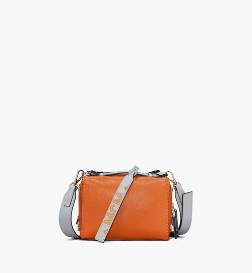 Milano Boston Bag in Color Block Goatskin Leather
