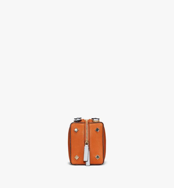 MCM Milano Boston Bag in Color Block Goatskin Leather Cognac MWBAADA01O4001 Alternate View 2