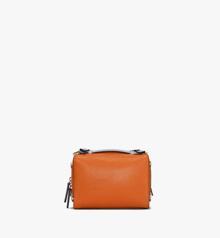 MCM Milano Boston Bag in Color Block Goatskin Leather Cognac MWBAADA01O4001 Alternate View 4
