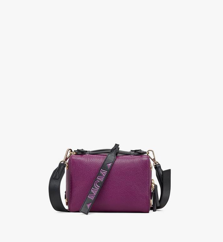 MCM Milano Boston Bag in Color Block Goatskin Leather Alternate View