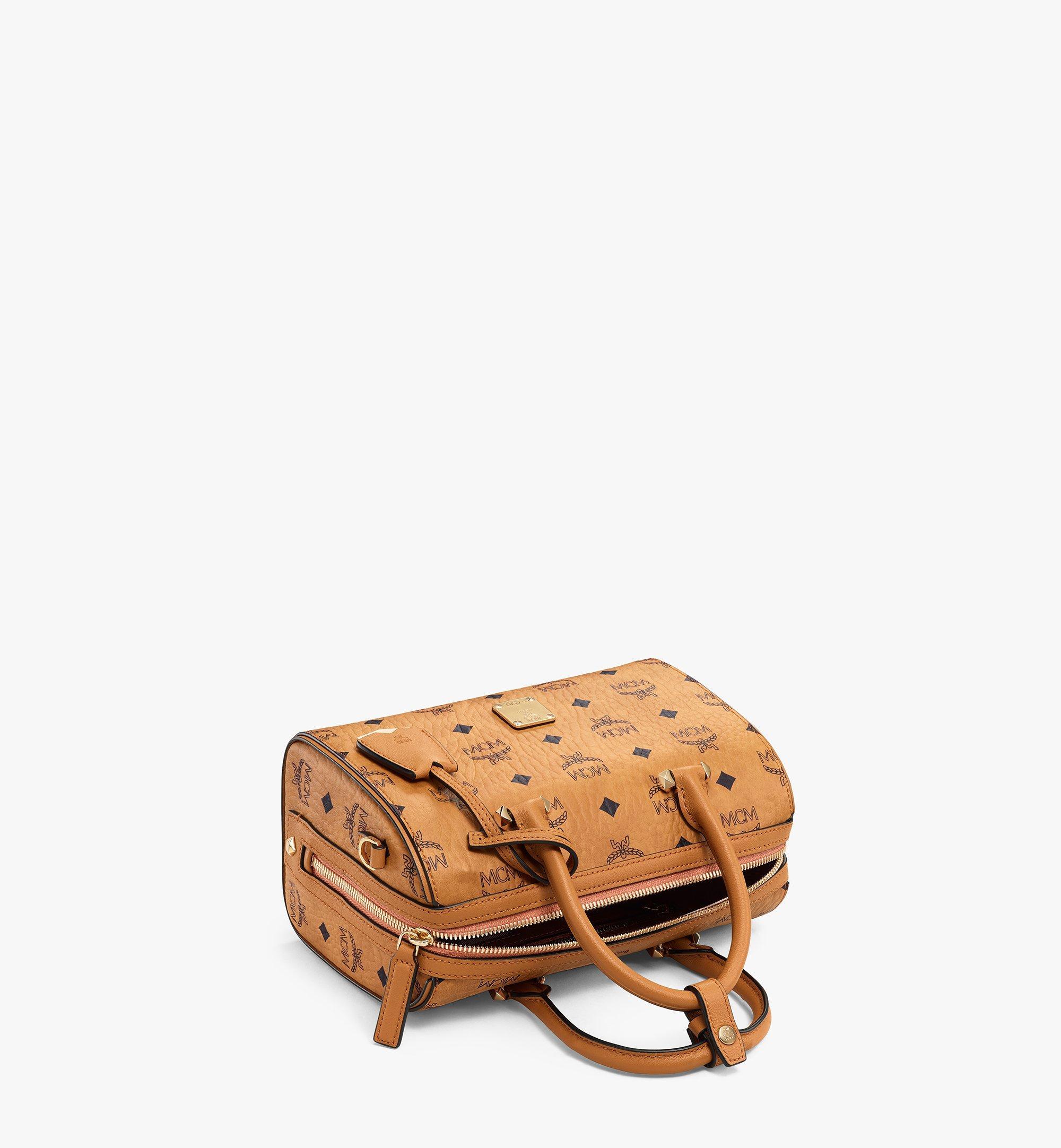 MCM Essential Boston Bag in Visetos Original Cognac MWBAASE02CO001 Alternate View 2