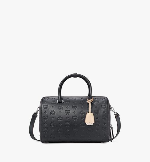 Essential Boston Bag in Monogram Leather
