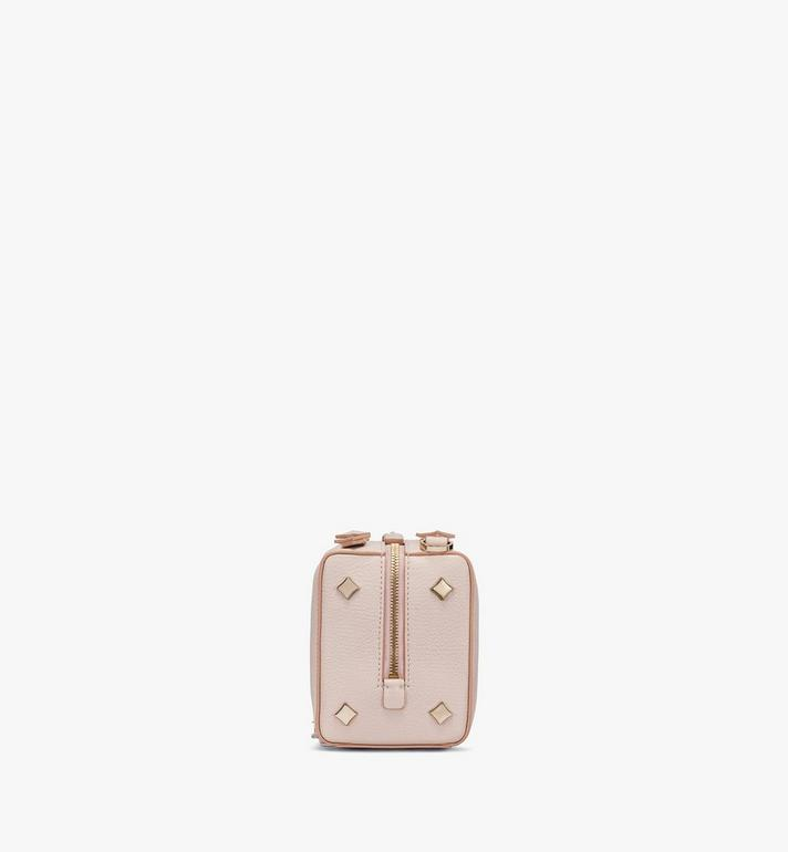 MCM Milano Boston Bag in Goatskin Leather Pink MWBASDA02IH001 Alternate View 2