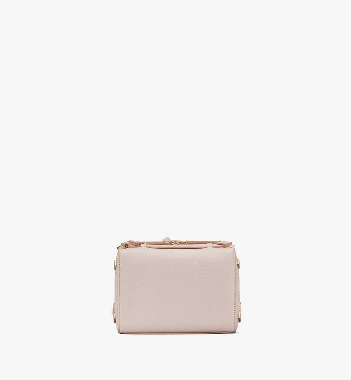 MCM Milano Boston Bag in Goatskin Leather Pink MWBASDA02IH001 Alternate View 3