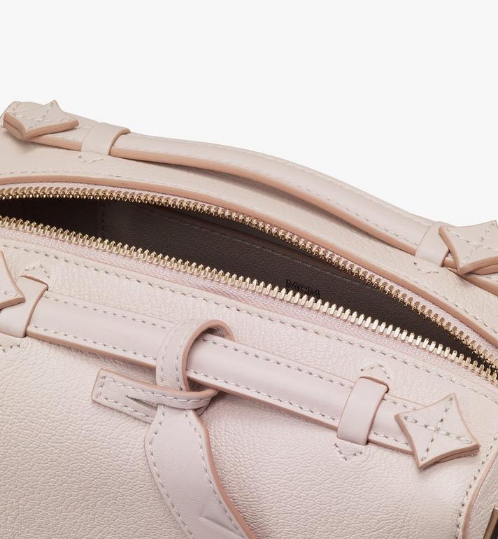 MCM Milano Boston Bag in Goatskin Leather Beige MWBASDA02IH001 Alternate View 4