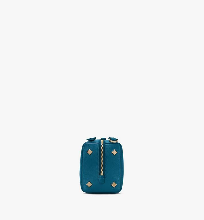 MCM Milano Boston Bag in Goatskin Leather Blue MWBASDA02JF001 Alternate View 2