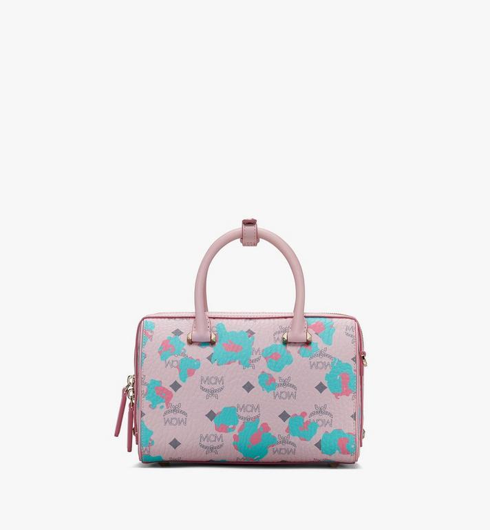 MCM Essential Boston Bag in Floral Leopard Alternate View 3