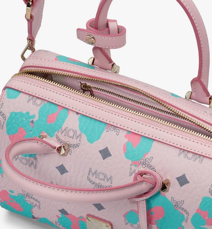 MCM Essential Boston Bag in Floral Leopard Alternate View 4