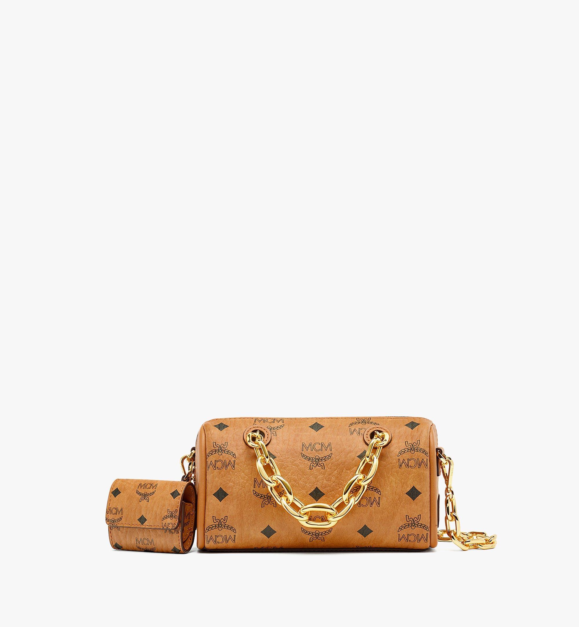 MCM Essential Boston-Tasche mit AirPodsProEtui in VisetosOriginal Cognac MWBBASE01CO001 Noch mehr sehen 1