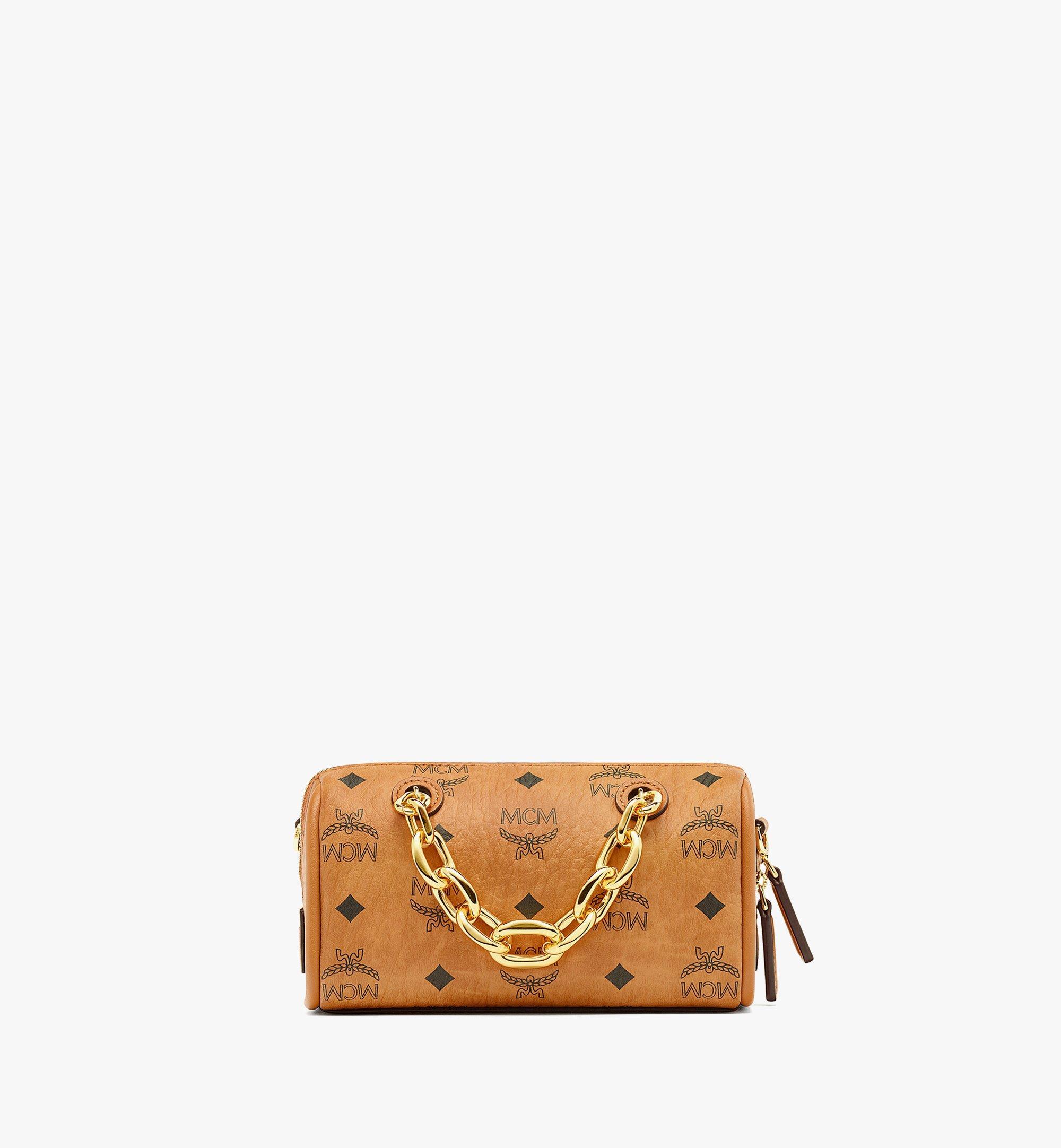 MCM Essential Boston-Tasche mit AirPodsProEtui in VisetosOriginal Cognac MWBBASE01CO001 Noch mehr sehen 3