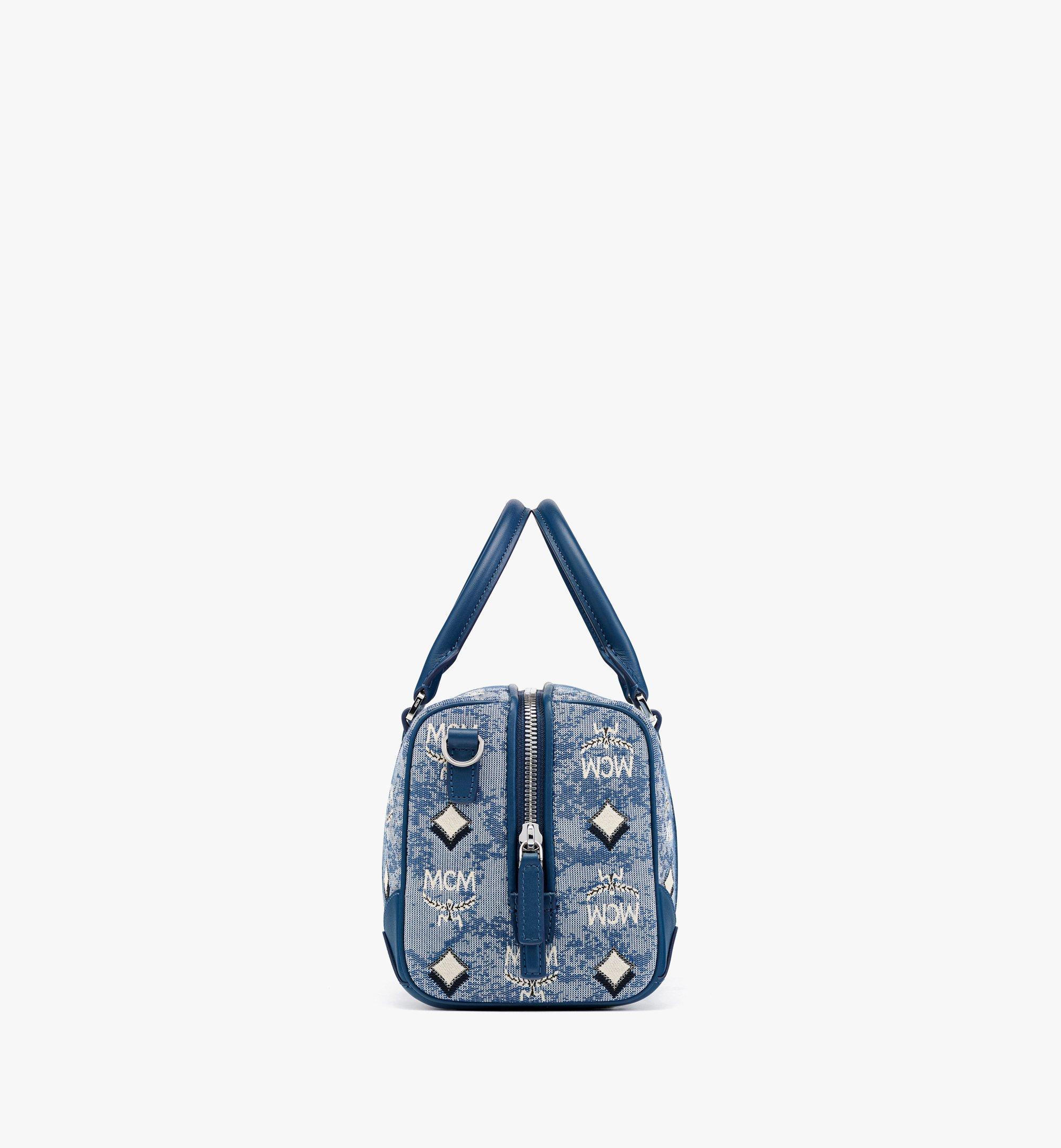 MCM Boston-Tasche aus Vintage-Jacquard mit Monogramm Blue MWBBATQ01LU001 Noch mehr sehen 1