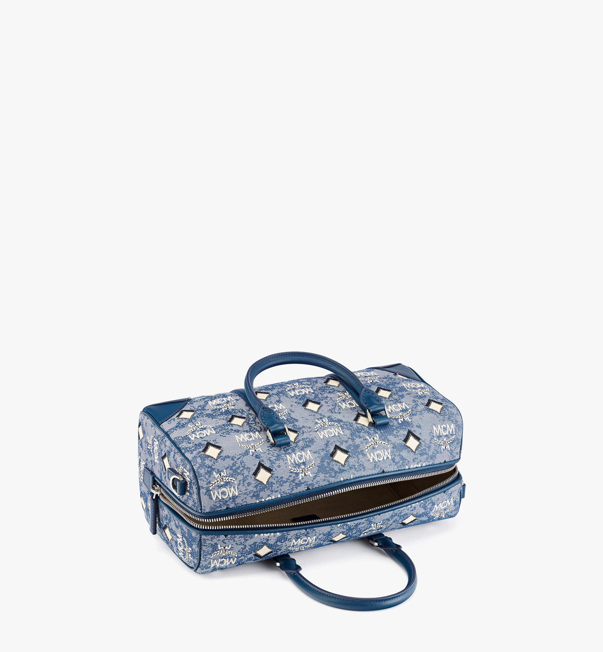 MCM Boston-Tasche aus Vintage-Jacquard mit Monogramm Blue MWBBATQ01LU001 Noch mehr sehen 2
