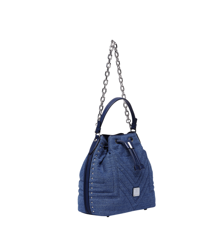 MCM Heritage Drawstring in Denim  MWD8ADS32HD001 Alternate View 2
