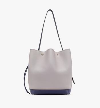MCM Milano Drawstring Bag in Calfskin Leather Alternate View 3