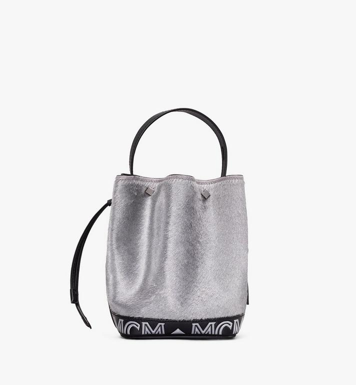 MCM Milano Mini Drawstring Bag in Metallic Haircalf Alternate View