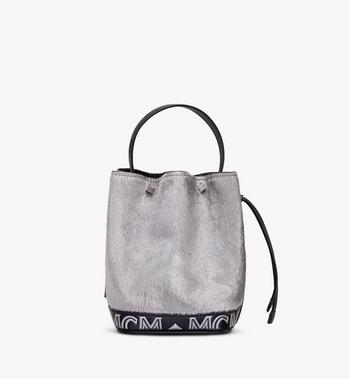 MCM Milano Mini Drawstring Bag in Metallic Haircalf Alternate View 3