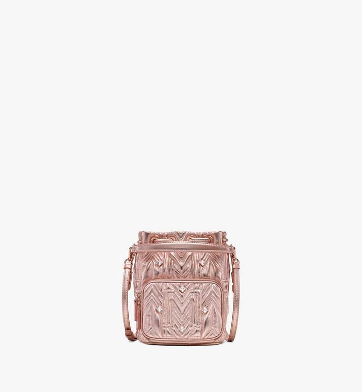 MCM Essential Drawstring in Crystal Quilted M Alternate View