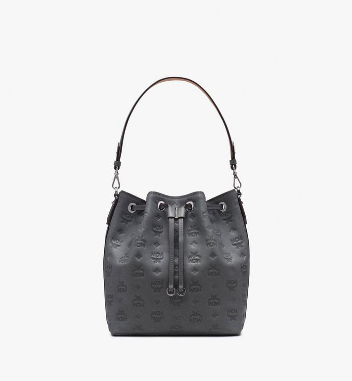 MCM Essential Drawstring in Monogram Leather Alternate View