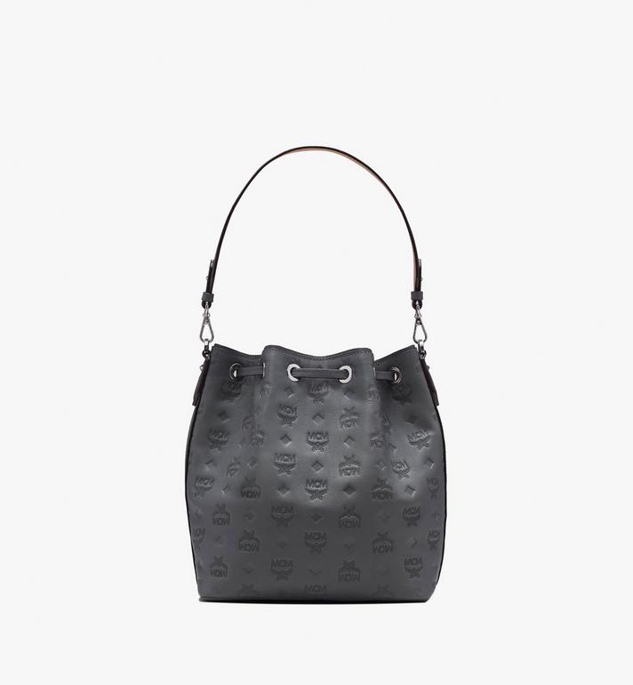 MCM Essential Drawstring in Monogram Leather Alternate View 3