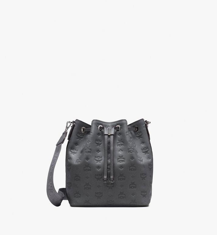 MCM Essential Drawstring in Monogram Leather Alternate View 4