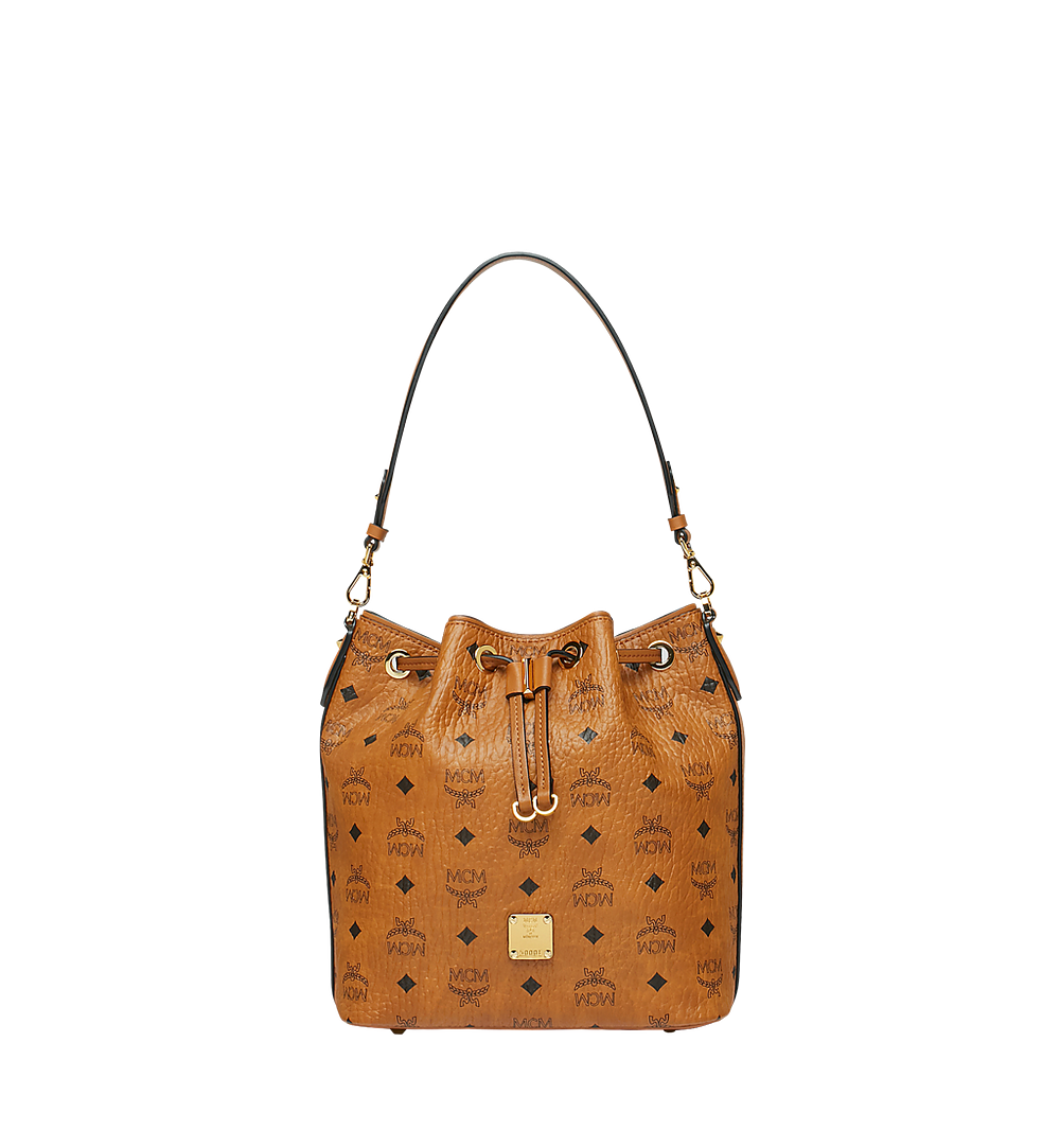 MCM Essential Kordelzug-Tasche in Visetos Cognac MWD9SSE71CO001 Noch mehr sehen 1