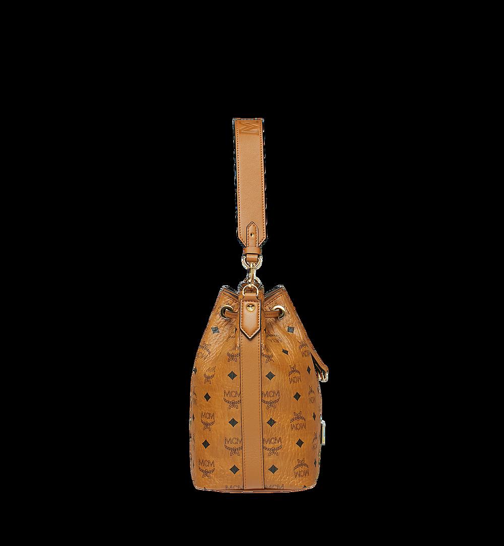 MCM Essential Kordelzug-Tasche in Visetos Cognac MWD9SSE71CO001 Noch mehr sehen 2