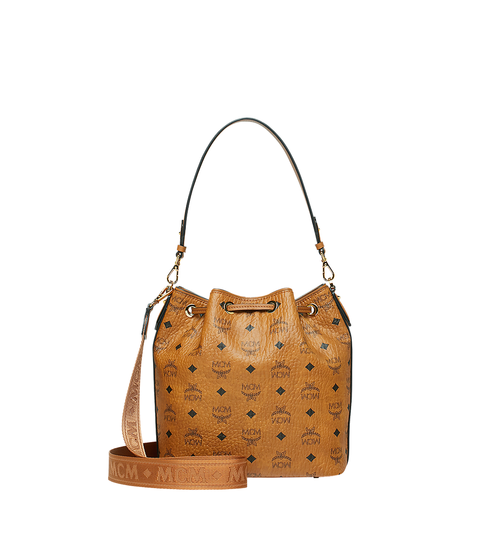 MCM Essential Kordelzug-Tasche in Visetos Cognac MWD9SSE71CO001 Noch mehr sehen 3