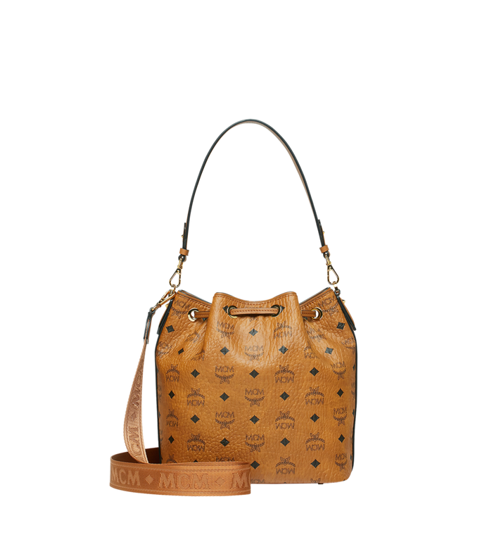 MCM Essential Drawstring in Visetos Cognac MWD9SSE71CO001 Alternate View 4