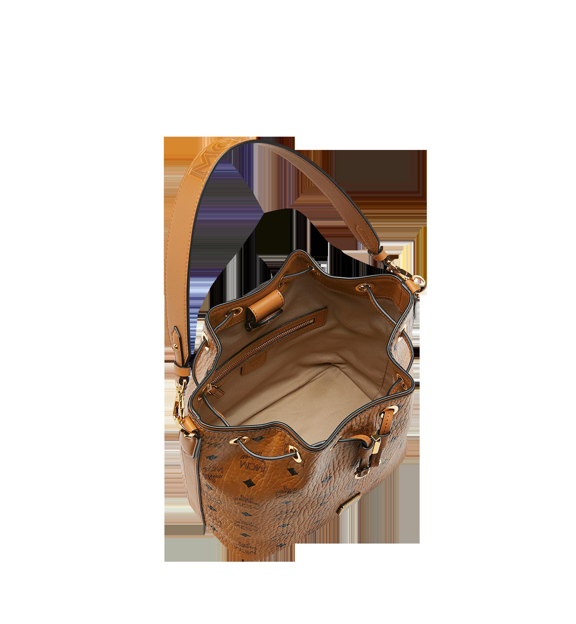 Small Essential Kordelzug Tasche in Visetos Cognac | MCM® DE