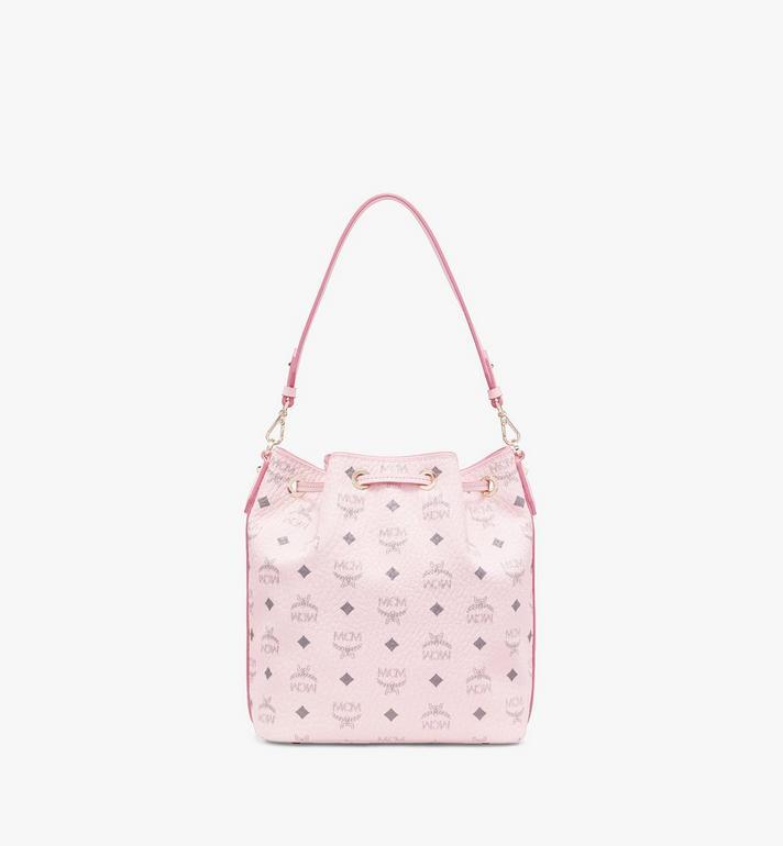 MCM Essential Drawstring Bag in Visetos Original Pink MWD9SSE71QH001 Alternate View 4