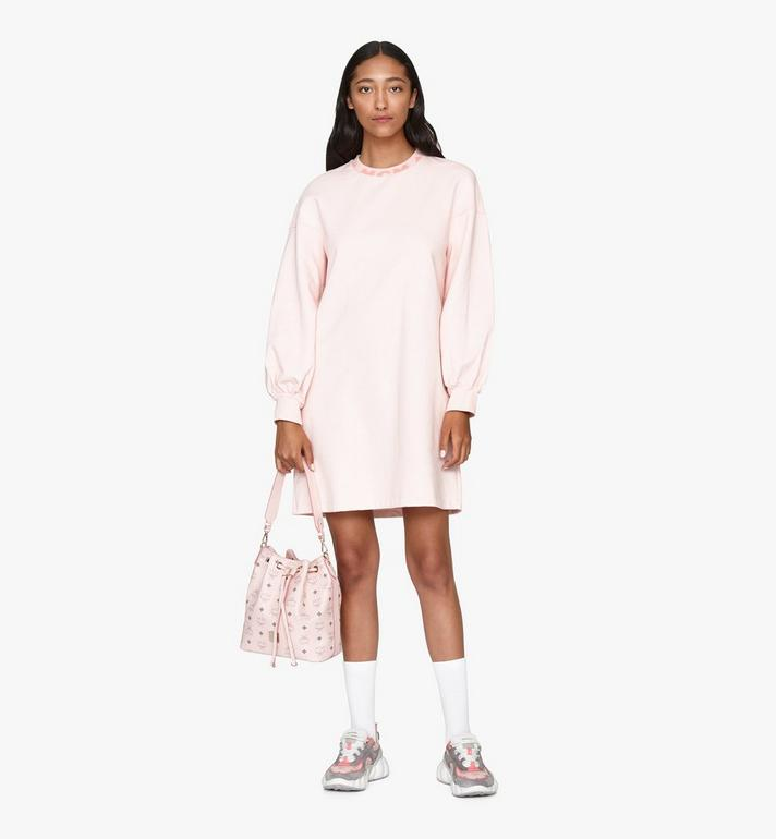 MCM Essential Drawstring Bag in Visetos Original Pink MWD9SSE71QH001 Alternate View 6