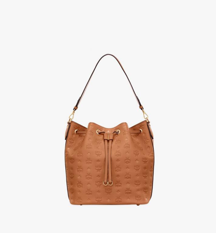 MCM Essential Drawstring Bag in Monogram Leather Alternate View
