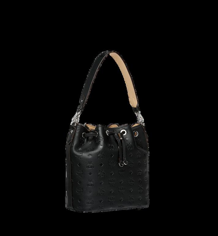 MCM Essential Drawstring in Monogram Leather Black MWD9SSE79BK001 Alternate View 2