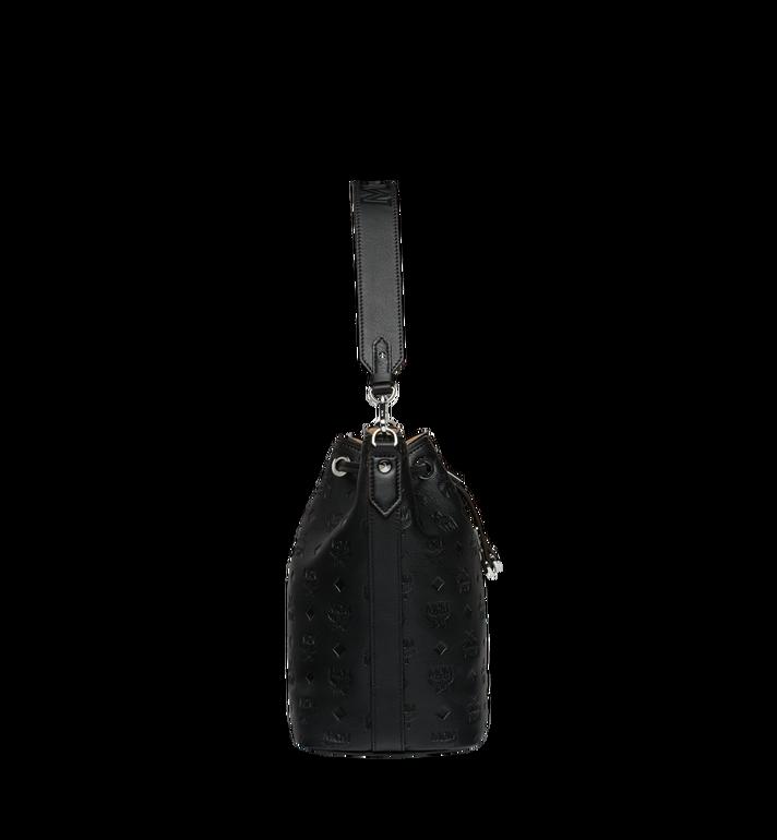 MCM Essential Drawstring in Monogram Leather Black MWD9SSE79BK001 Alternate View 3