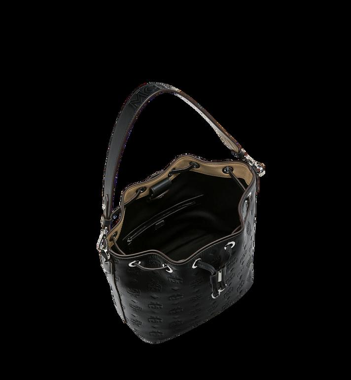 MCM Essential Drawstring in Monogram Leather Black MWD9SSE79BK001 Alternate View 5
